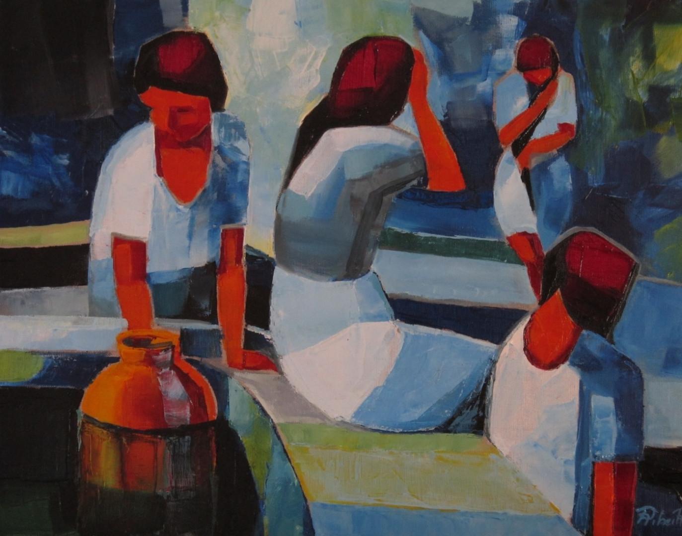 Femmes à l'oasis  61x50    Vendu
