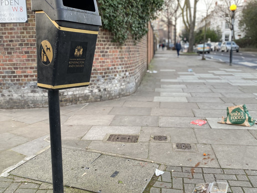 Littering culture trashes London