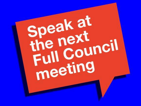 Online registration to speak at the next Full Council meeting opens on 8 January