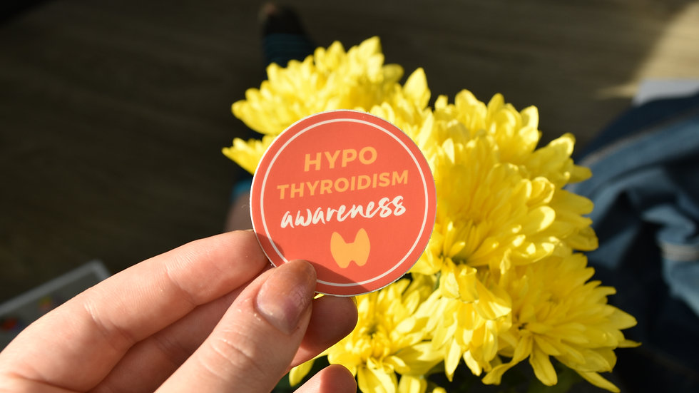 Hypothyroidism Awareness Round Sticker