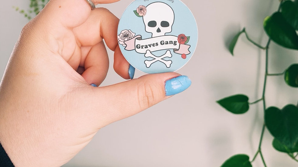 Graves Gang Skull & Bones Sticker