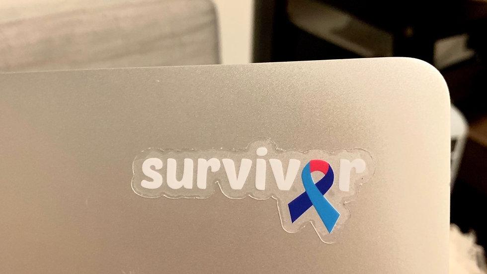 Clear Survivor Ribbon Sticker