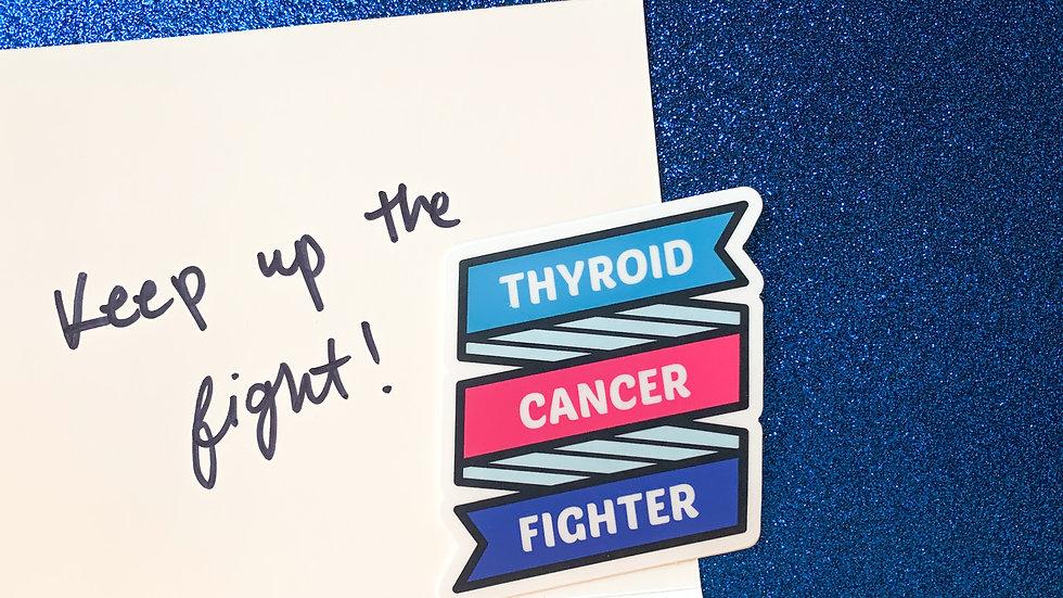 Thyroid Cancer Fighter Ribbon Sticker