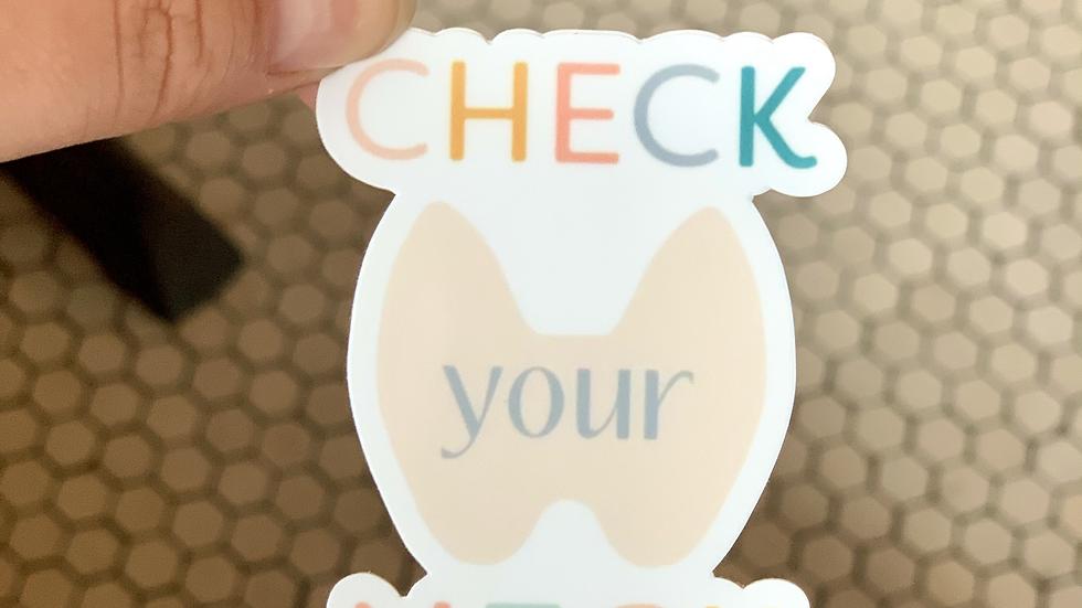 Check Your Neck Rainbow Pastel Sticker