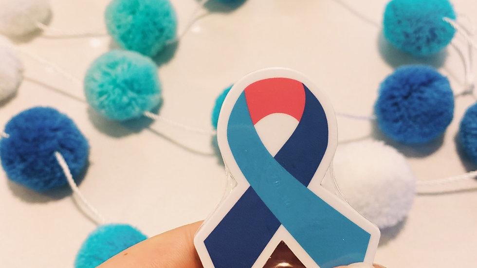 Thyroid Cancer Ribbon Sticker