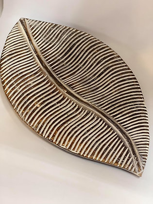 Carved Leaf Platter