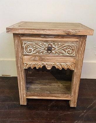 Carved Bedside Side Table
