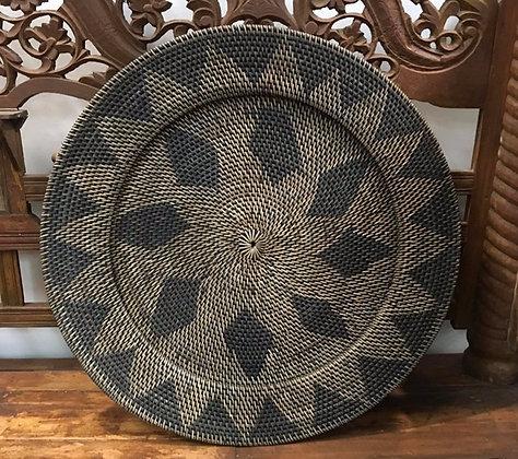 Rattan Diamond Platter