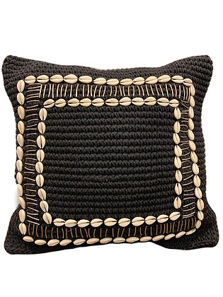Seashell Macrame Cushion