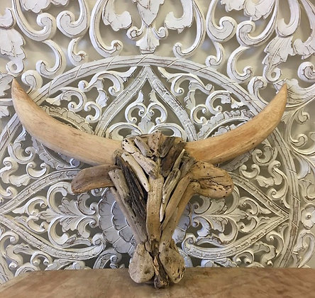 Driftwood Cow Head