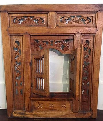 Vintage Carved Window Shutter