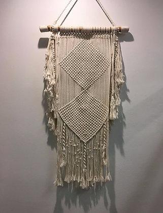 Diamond Pattern Macrame Walla art