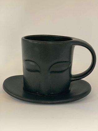 Face Tea Cup & Saucer
