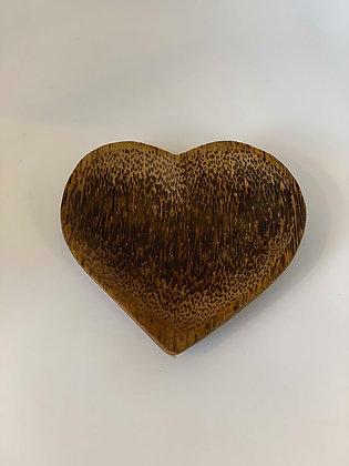 Coconut Wood Heart Bowl