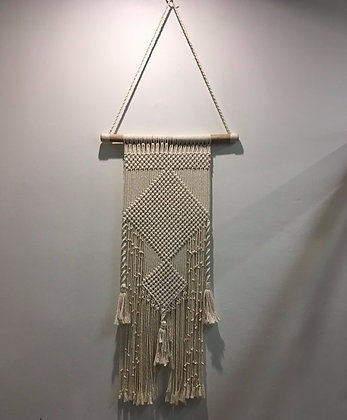 Natural Diamond Macrame Wall Art