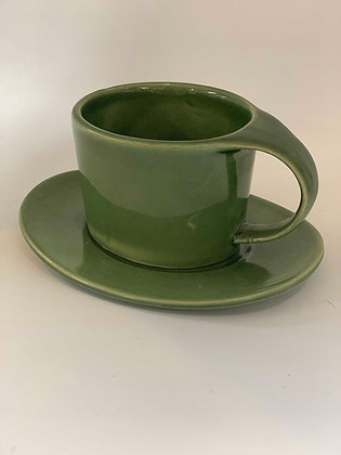 Mint Tea Cup and Saucer