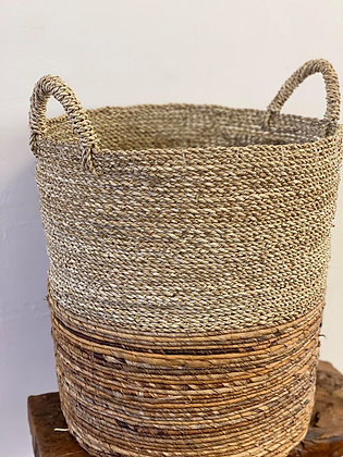 Bamboo and Seagrass Basket