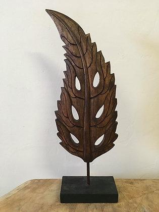 Carved Leaf Decor