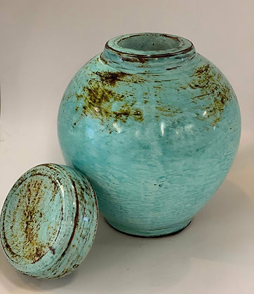 Ginger Pot- turquoise