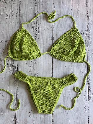Macrame Bikini- Lime