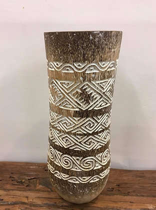 Carved Borneo Palm Pot