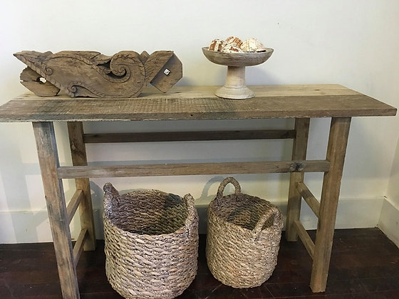 Rustic Teak Console Table