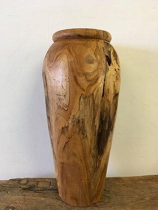 Teak Freeform Vase
