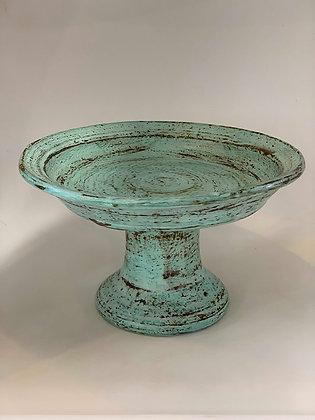 Platter Pedestal- turquoise
