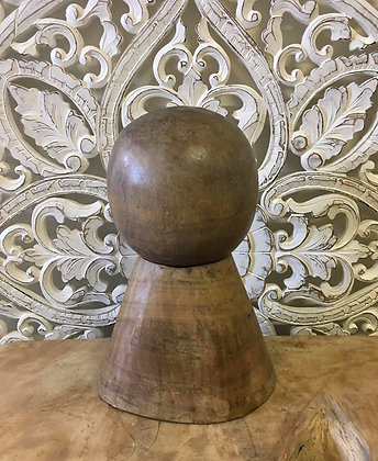 Round Teak Ball on Timber Stand