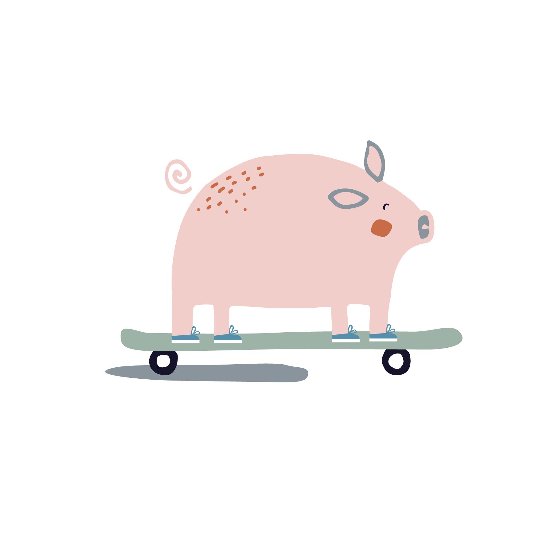 farmyard pals_skateboard pig