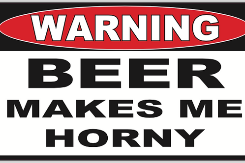 Horny Beer Decal