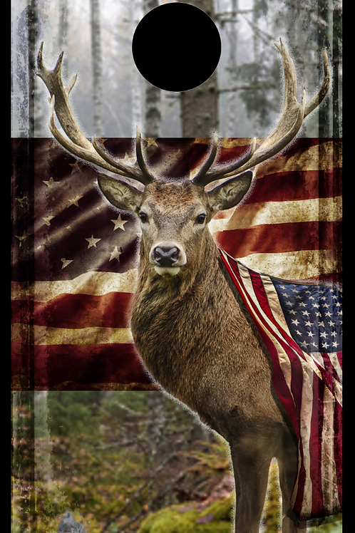 Buck with Flag