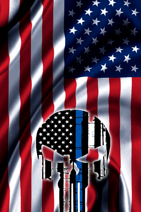 Punisher Skull With American Flag 01