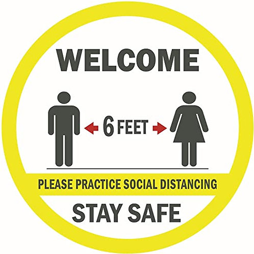 Welcome Social Distancing Sign15""