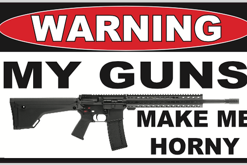 Horny Gun Decal