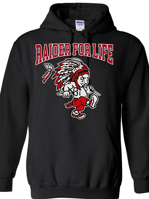 RAIDER FOR LIFE HOODIE