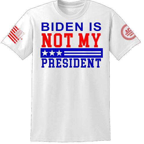 Not My President White Tee