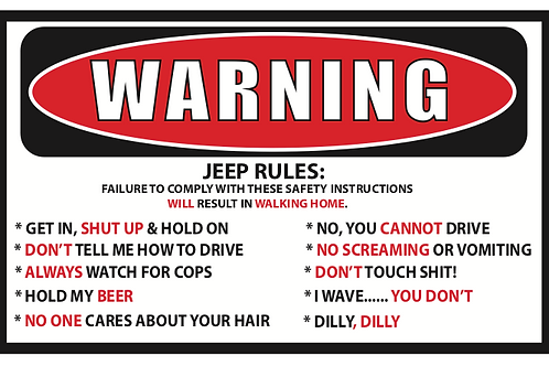 Jeep Rules Decal