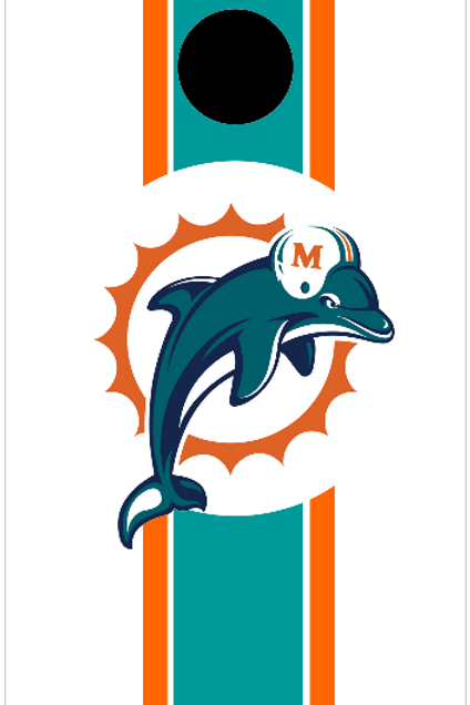 Miami Dolphins White BG