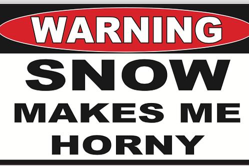 Horny Snow Decal