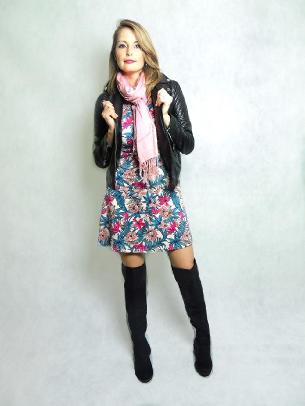 Cintia Cortez_vestido foral no inverno 2