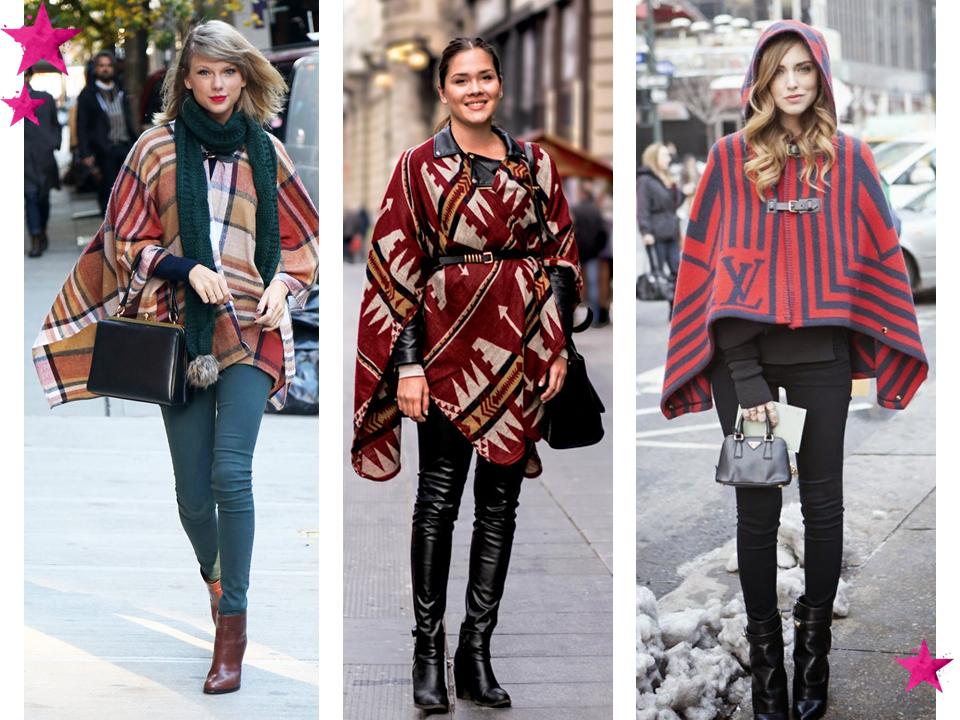 Cíntia Cortez consultora de estilo Looks com ponchos