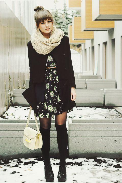 Cintia Cortez_vestido foral no inverno 10