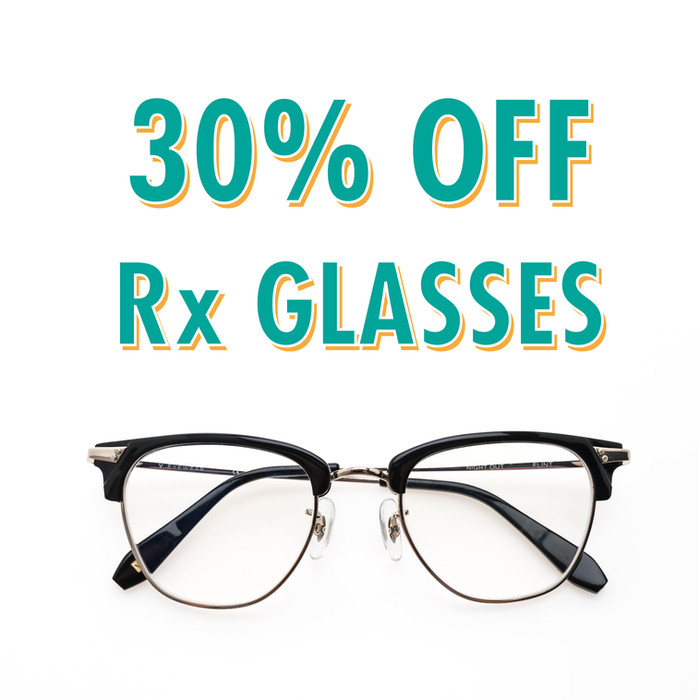 30% Off Prescription Glasses