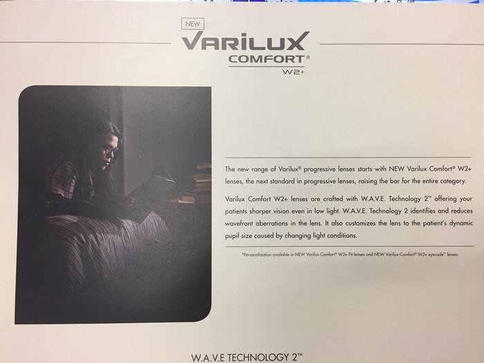 Varilux NEW w2+Progressive Lens