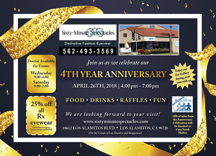 Celebrate our 4th Year Anniversary!