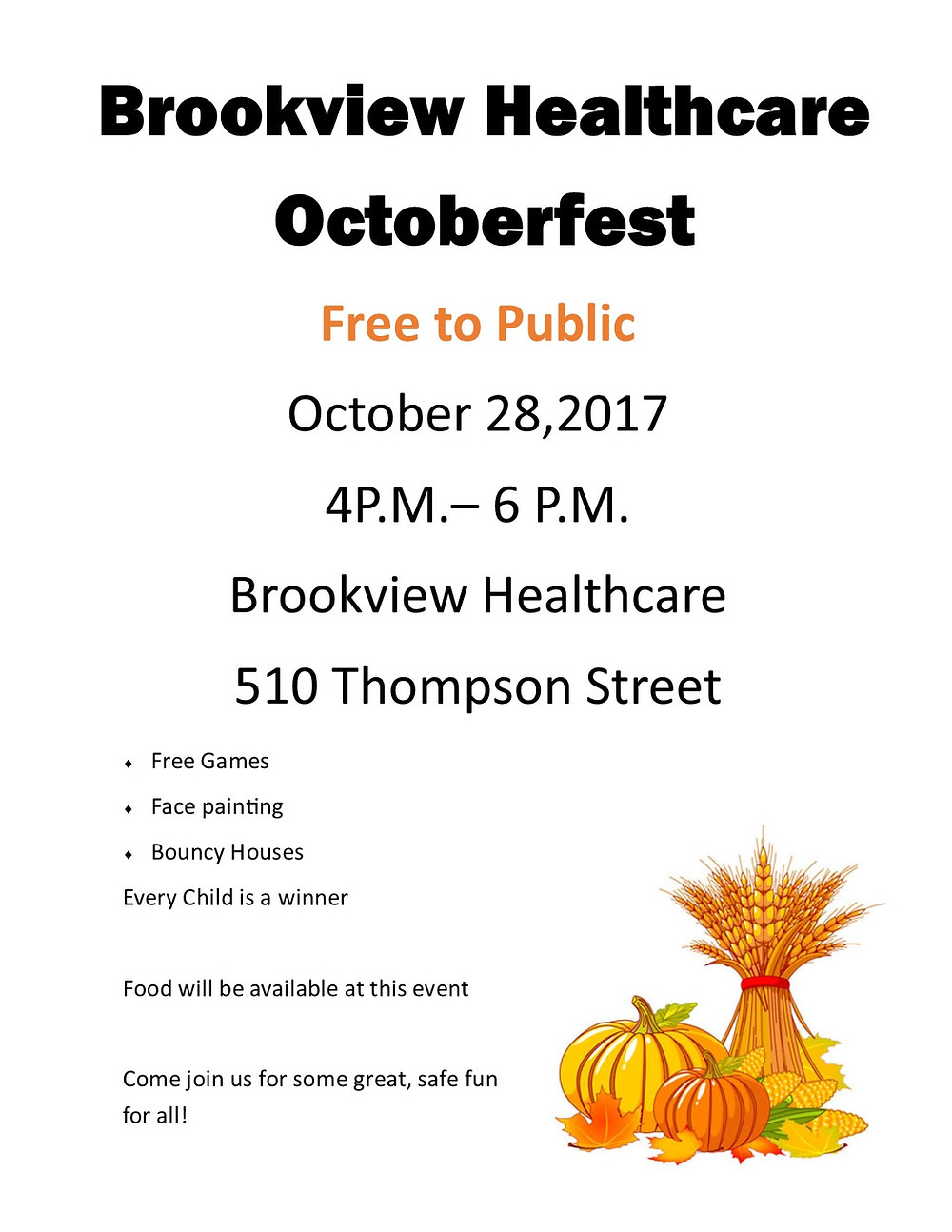 Brookview Oktoberfest | 510 Thompson St, Gaffney, SC, 29340