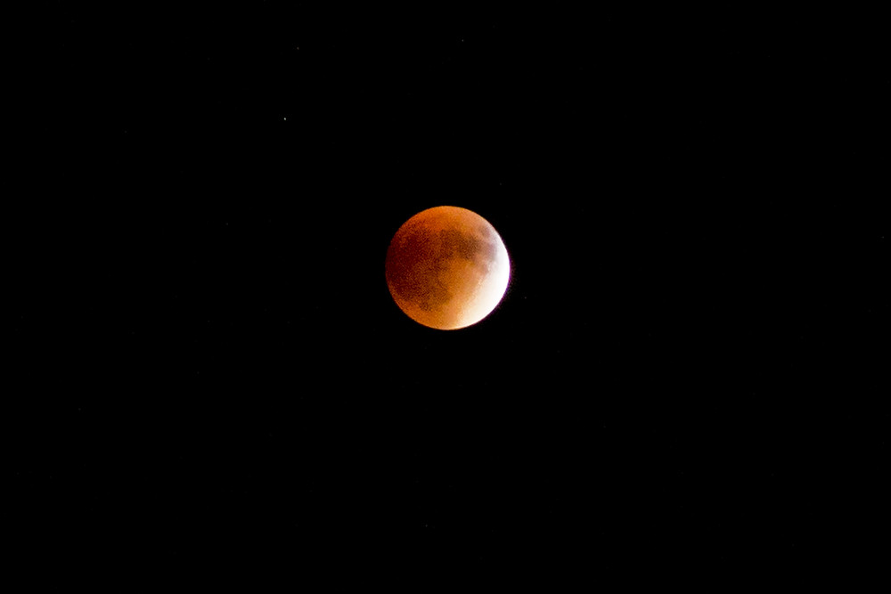 Last night was the total eclipse of the moon.