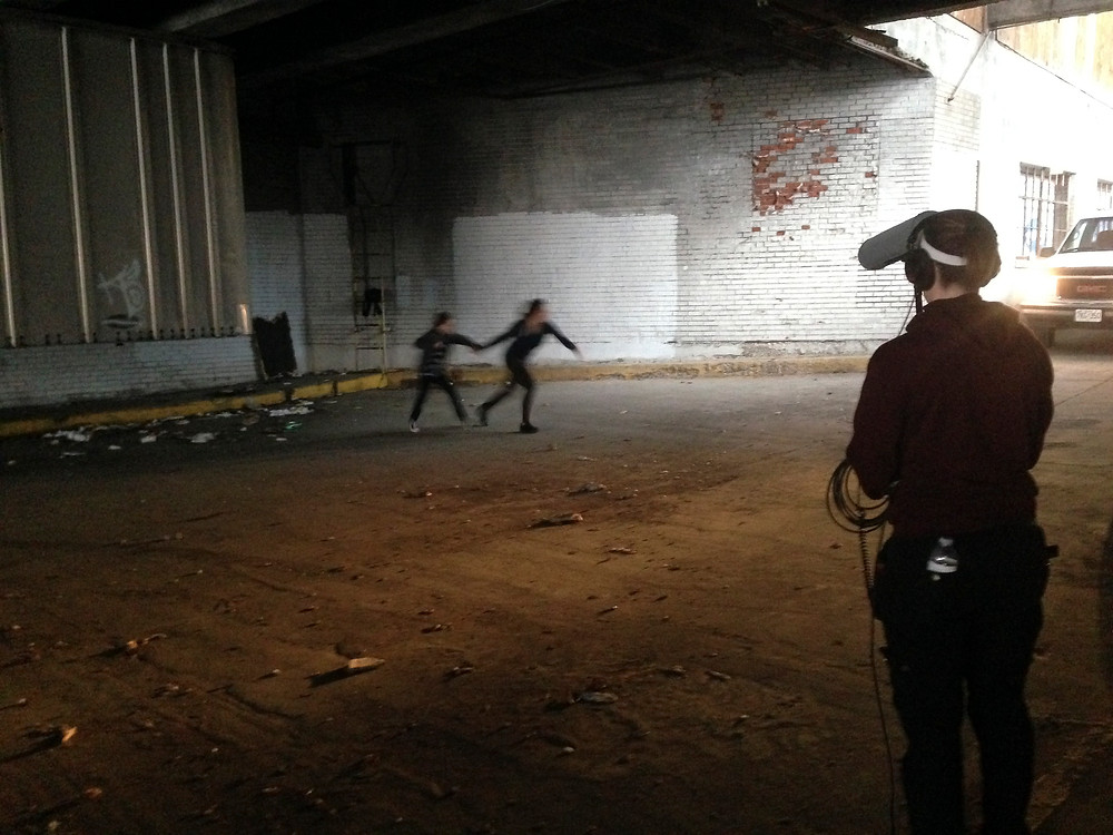 Actors Jennifer Lauren and Chance Armstrong  in action.