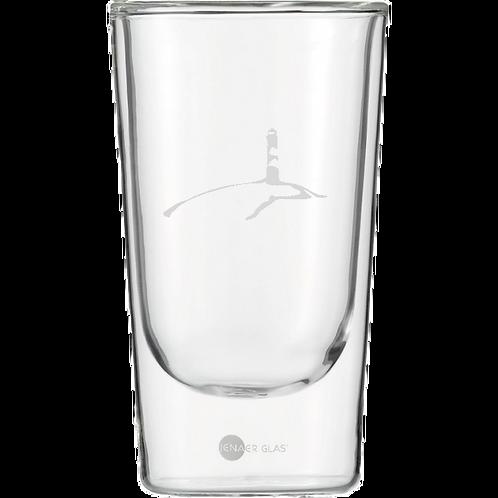 Latte Macchiato Glas Leuchtturm